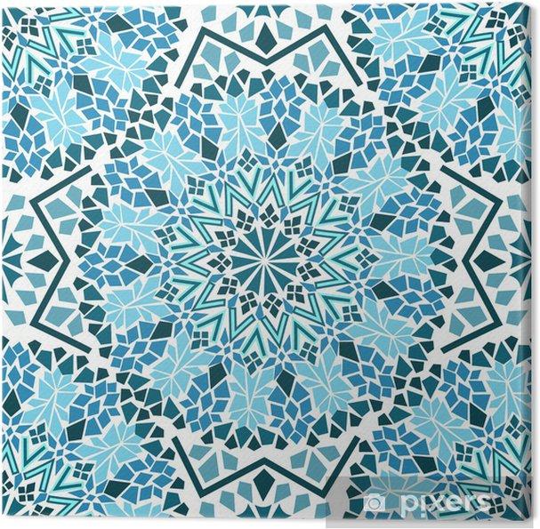 Tuval Baskı Fas mozaik Seamless pattern -