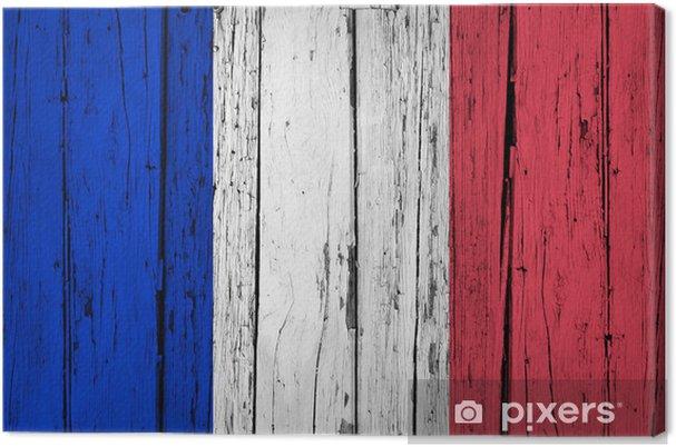 Fransa Bayrağı Grunge Background Tuval Baskı Pixers Haydi