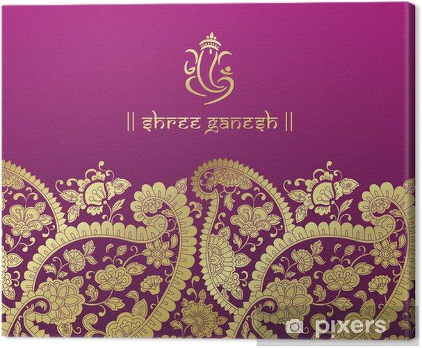 Tuval Baskı Ganesha, düğün kartı, kraliyet Rajasthan, Hindistan - Kutlama