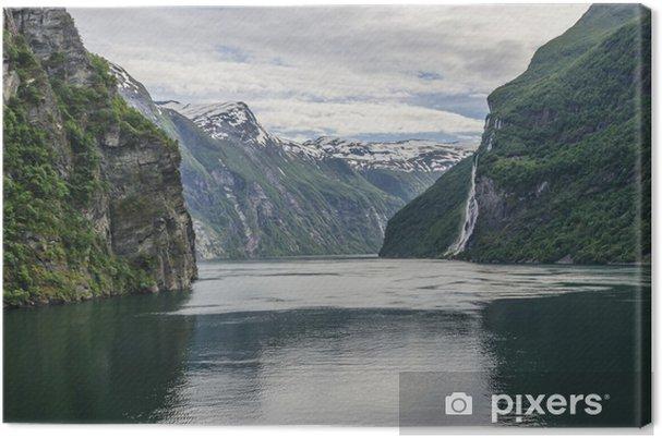 Tuval Baskı Geiranger fiord -