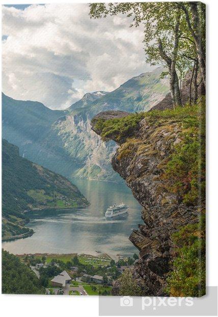Tuval Baskı Geiranger fiyort, Norveç -