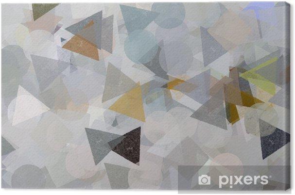 Geometrik şekiller Illüstrasyon Fırça Boya Desen Tuval Baskı