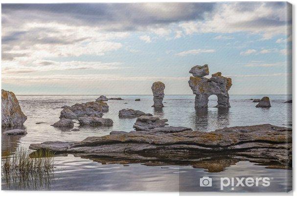 Tuval Baskı Gotland kaya oluşumu - Avrupa
