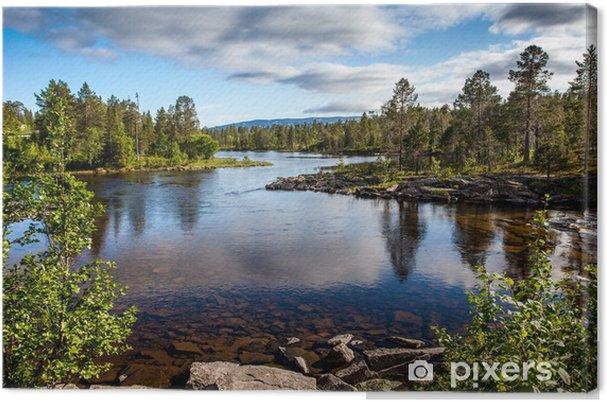 Tuval Baskı Güzel manzara kristal nehir -