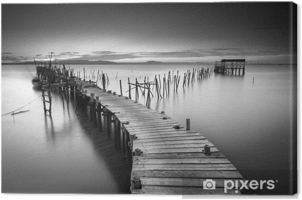Tuval Baskı Huzurlu eski iskele - Manzaralar