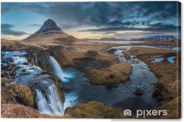 Tuval Baskı İzlanda manzara - Mt. Sunrise Kirkjufell -