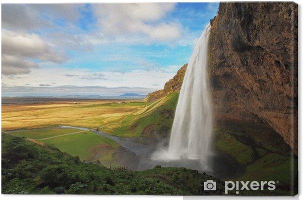 Tuval Baskı İzlanda şelale - Seljalandsfoss -