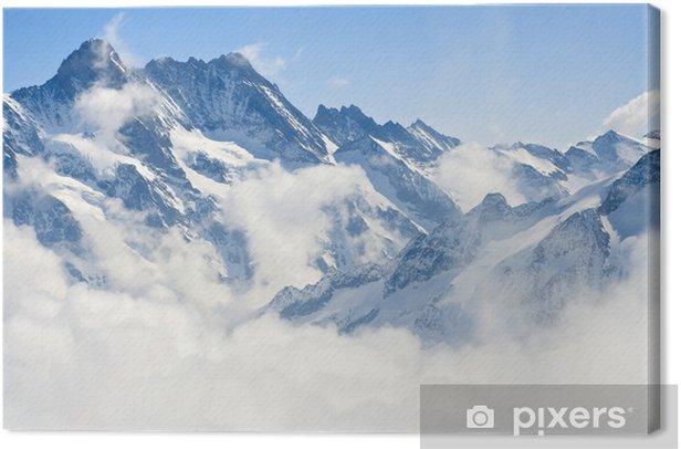 Tuval Baskı Jungfraujoch Alps dağ manzara -
