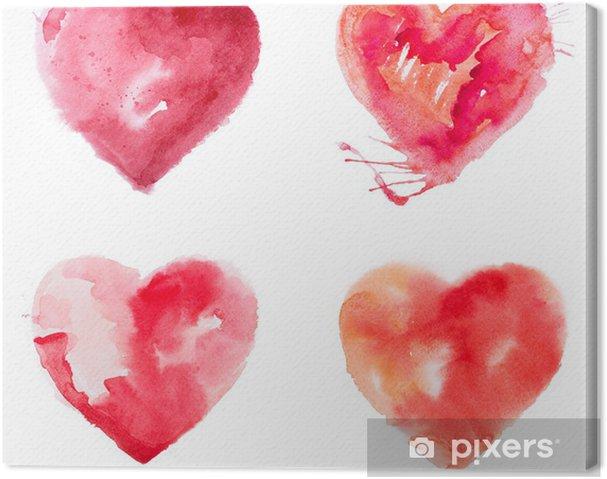 Kalp Boya Suluboya Aşk Tuval Baskı Pixers Haydi Dünyanızı