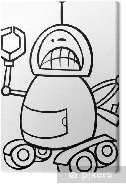 Kızgın Robot Karikatür Boyama Tuval Baskı Pixers Haydi