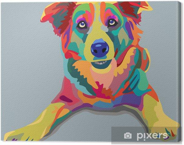 Tuval Baskı Köpek pop-art -