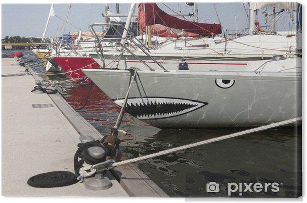 Köpekbalığı Boyama Yelken Gemisi Tuval Baskı Pixers Haydi