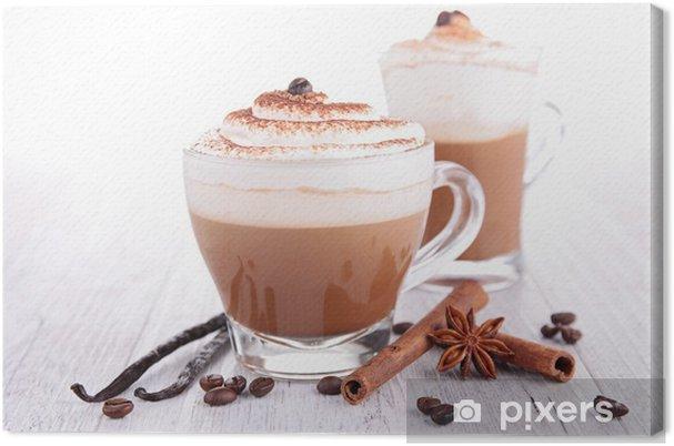 Tuval Baskı Krema ile kahve ya da çikolata - Kafe
