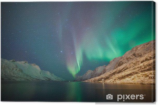 Tuval Baskı Kuzey ışıkları, Ersfjordbotn, Tromso, Norveç -