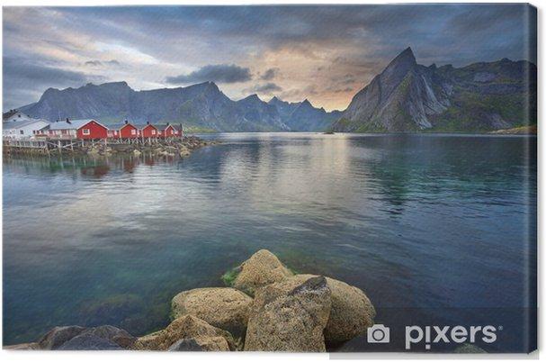 Tuval Baskı Lofoten Adaları. -
