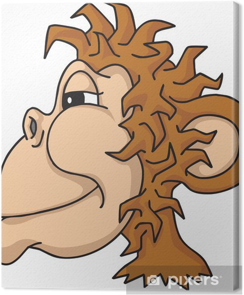 Maymun Kafası Tuval Baskı Pixers Haydi Dünyanızı Değiştirelim