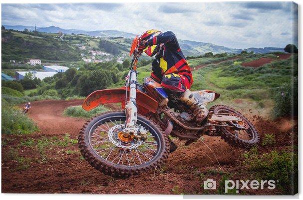 Tuval Baskı Motocross Rider -