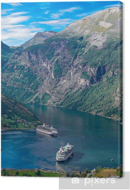 Tuval Baskı Norveç, Geiranger fiyort -