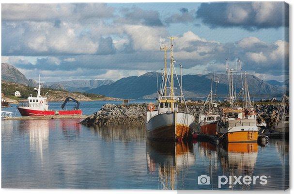 Tuval Baskı Norveç gemi -