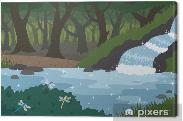 Tuval Baskı Orman - Su