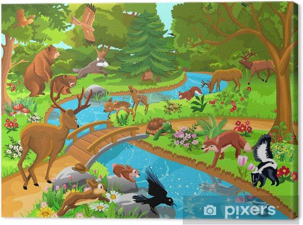 Ormanda Yaşayan Vahşi Hayvanlar Tuval Baskı Pixers Haydi