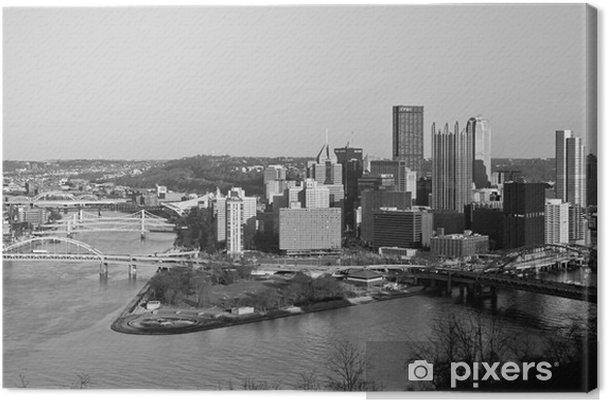 Tuval Baskı Pittsburgh aşağı şehir -