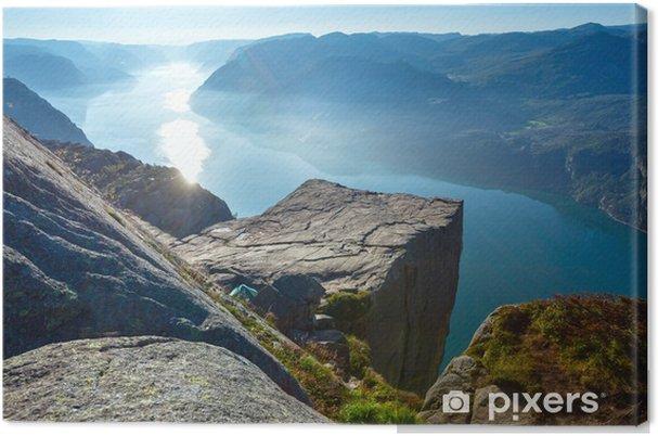 Tuval Baskı Preikestolen masif uçurum üst (Norveç) -