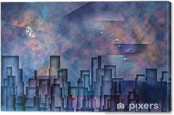 şehir Boyama Tuval Baskı Pixers Haydi Dünyanızı Değiştirelim