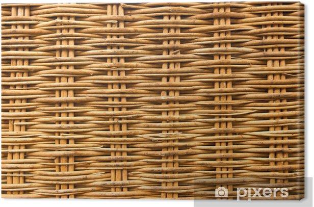 Tuval Baskı Sepetten yapılmış kahverengi hasır texture background - Hammaddeler