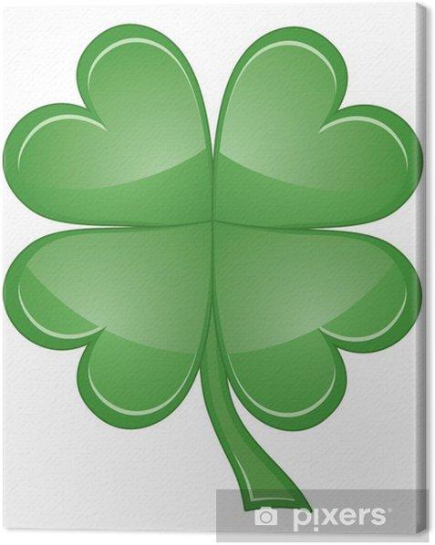 Tuval Baskı Shamrock veya Four Leaf Clover - Diğer nesneler