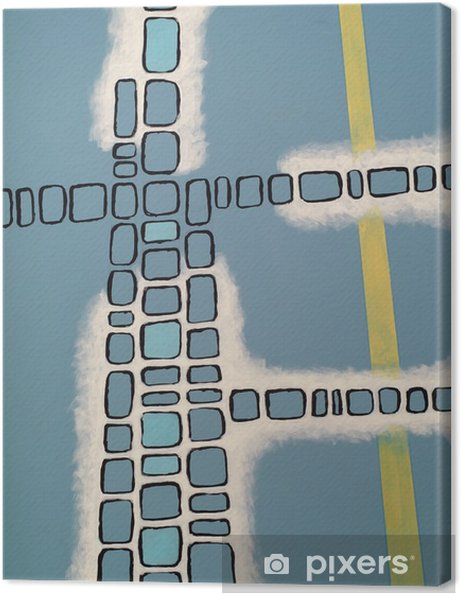 Tuval Baskı Soyut resim - Grafik kaynakları