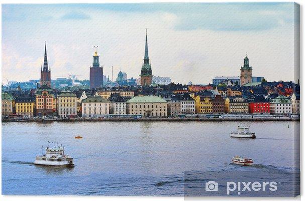 Tuval Baskı Stockholm Sweden Cityscape - Avrupa