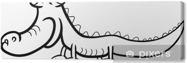 Timsah Karikatür Boyama Tuval Baskı Pixers Haydi Dünyanızı