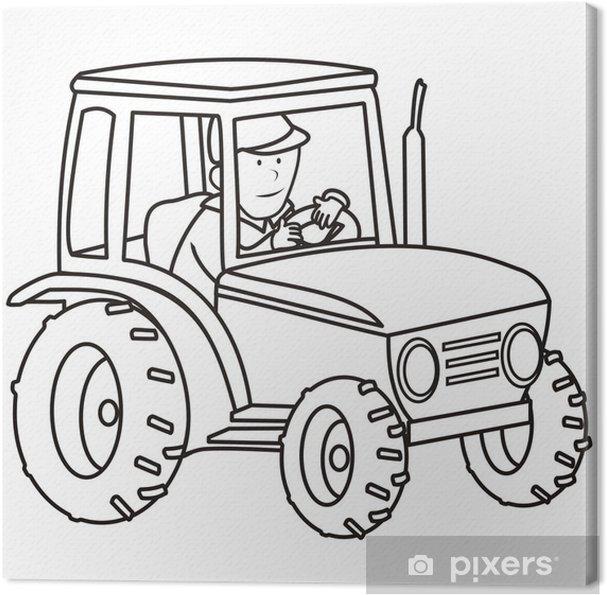 Traktör Boyama Kitabı Tuval Baskı Pixers Haydi Dünyanızı