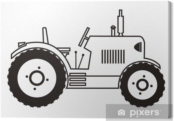 Traktör Boyama Tuval Baskı Pixers Haydi Dünyanızı Değiştirelim