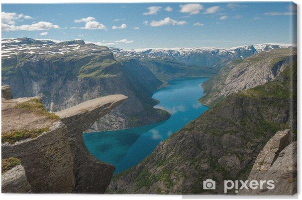 Tuval Baskı Trolltunga, Troll dilini kaya, Norveç -