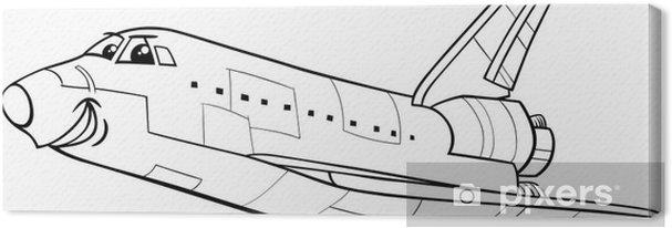 Uzay Mekiği Boyama Kitabı Tuval Baskı Pixers Haydi Dünyanızı
