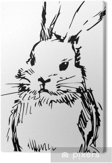 Uzun Kulakları Olan Bir Tavşan Resmi Tuval Baskı Pixers Haydi