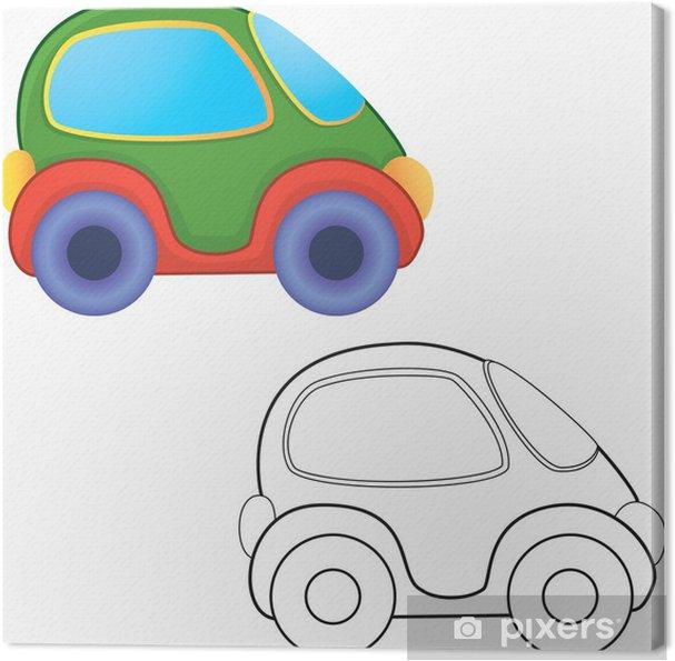 Vektör Oyuncak Araba Boyama Kitabı Tuval Baskı Pixers Haydi