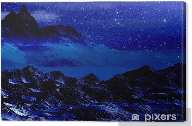 Tuval Baskı Yıldızlı Gece - Gökyüzü