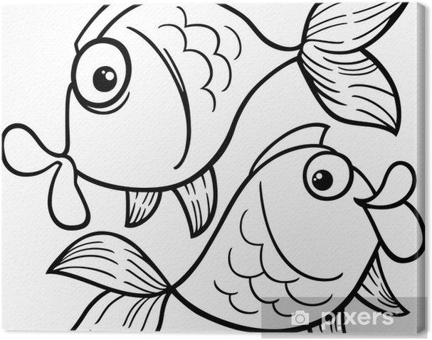 Zodyak Balık Burcu Ya Da Balık Boyama Tuval Baskı Pixers Haydi