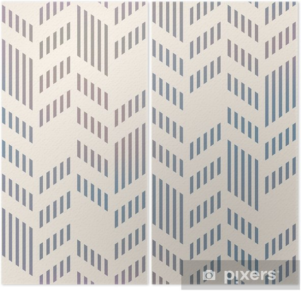 Tweeluik Abstract Naadloos Geometrische Vector Chevron. mesh backgro - Kantoor