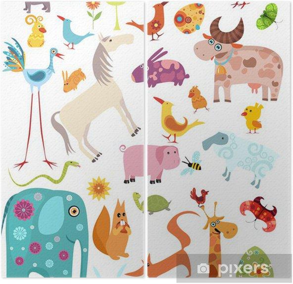 Tweeluik Set grote dieren -