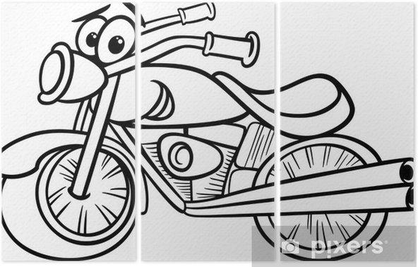Bisiklet Ya Da Helikopter Boyama üç Parçalı Pixers Haydi