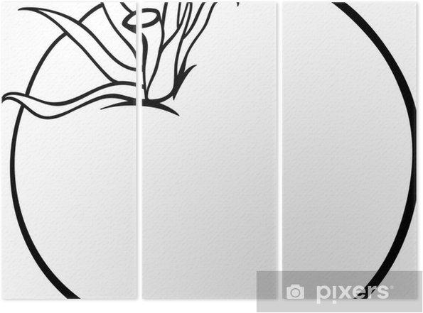 Boyama Kitabı Için Domates Sebze Karikatür üç Parçalı Pixers