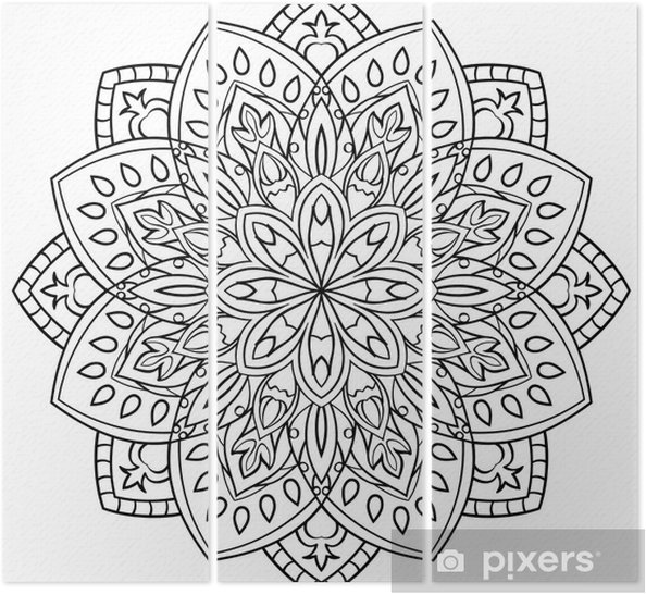 Boyama Kitabı Için Mandala üç Parçalı Pixers Haydi Dünyanızı