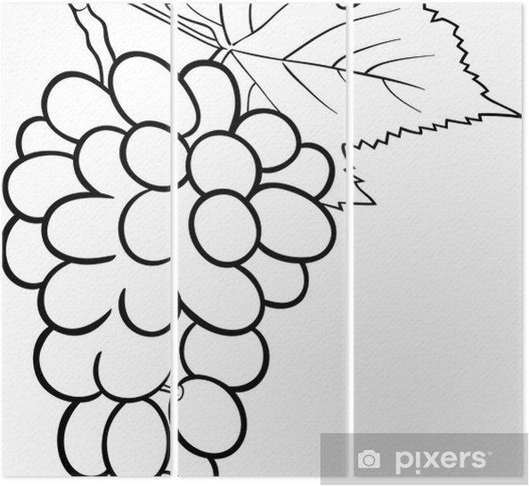Boyama Kitabı Için üzüm Illüstrasyon üç Parçalı Pixers Haydi
