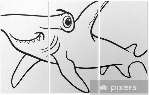 çekiç Köpekbalığı Boyama Kitabı üç Parçalı Pixers Haydi