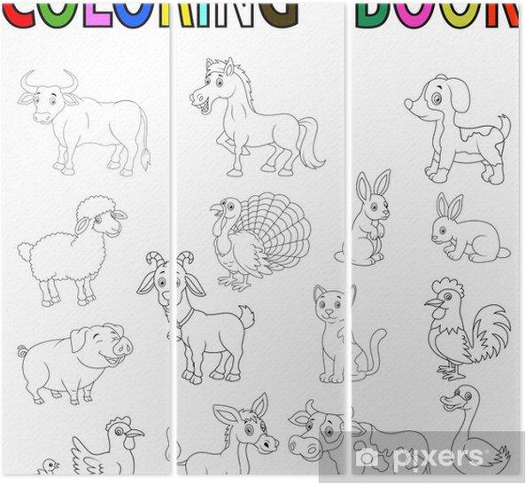 çiftlik Hayvanları Boyama Kitabı üç Parçalı Pixers Haydi