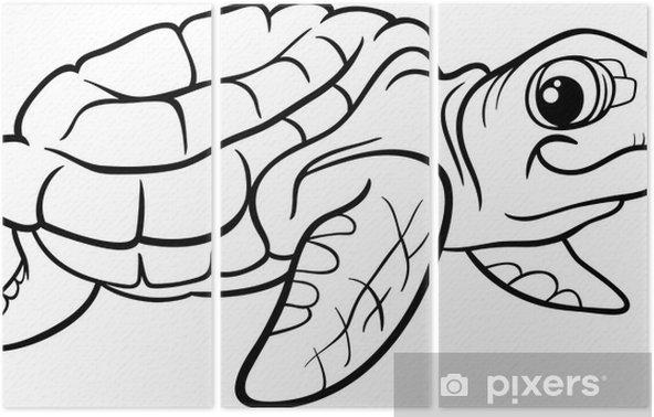 Deniz Kaplumbağa Boyama Kitabı üç Parçalı Pixers Haydi